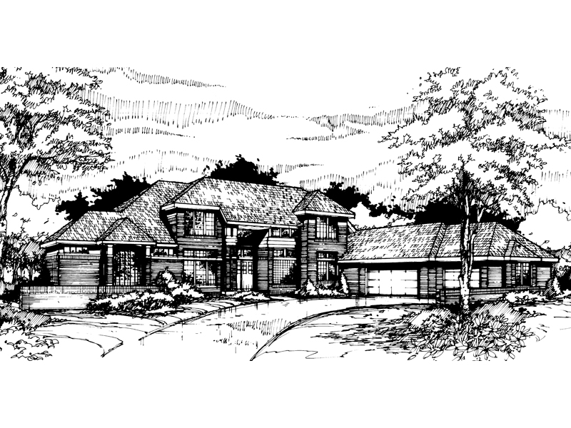 Contemporary House Plan Front of Home - 072D-0425 | House Plans and More