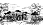 Southern House Plan Front of Home - 072D-0425 | House Plans and More
