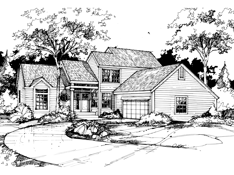Southern House Plan Front of Home - 072D-0426 | House Plans and More