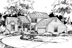 Traditional House Plan Front of Home - 072D-0426 | House Plans and More
