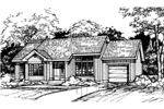 Contemporary House Plan Front of Home - 072D-0427 | House Plans and More