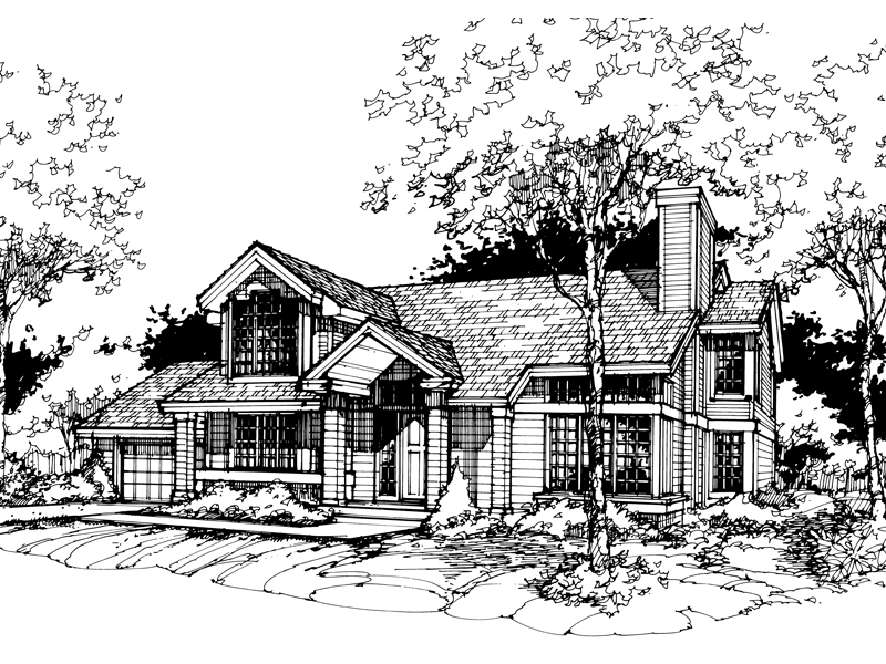 Contemporary House Plan Front of Home - 072D-0429 | House Plans and More