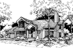 Traditional House Plan Front of Home - 072D-0429 | House Plans and More
