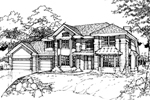 Modern House Plan Front of Home - 072D-0430 | House Plans and More