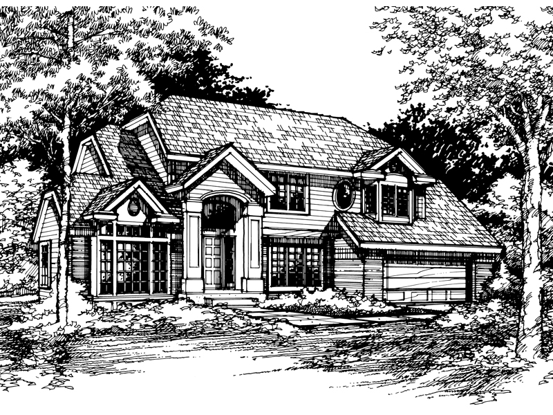 Contemporary House Plan Front of Home - 072D-0431 | House Plans and More