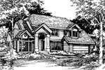 Traditional House Plan Front of Home - 072D-0431 | House Plans and More
