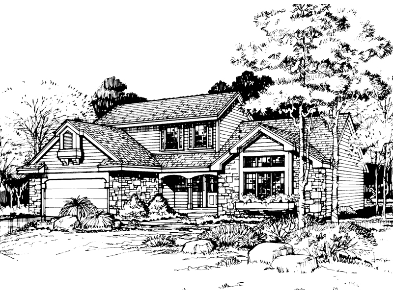 Traditional House Plan Front of Home - 072D-0432 | House Plans and More