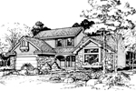 Southern House Plan Front of Home - 072D-0432 | House Plans and More