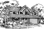 Country House Plan Front of Home - 072D-0434 | House Plans and More