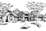Traditional House Plan Front of Home - 072D-0435 | House Plans and More