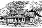 Contemporary House Plan Front of Home - 072D-0436 | House Plans and More