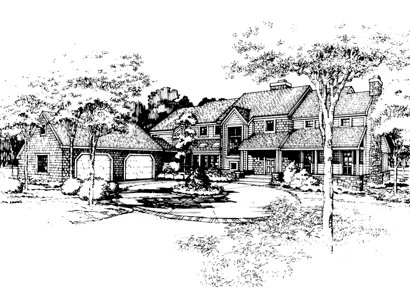 Southern House Plan Front of Home - 072D-0438 | House Plans and More