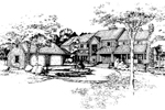 Farmhouse Plan Front of Home - 072D-0438 | House Plans and More