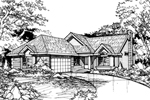 Southern House Plan Front of Home - 072D-0439 | House Plans and More