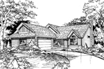 Traditional House Plan Front of Home - 072D-0440 | House Plans and More