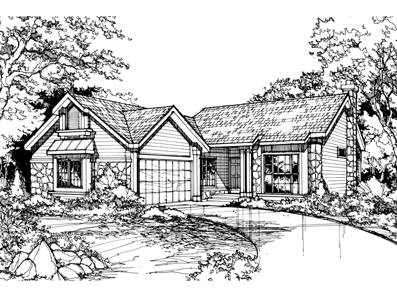 Country House Plan Front of Home - 072D-0441 | House Plans and More