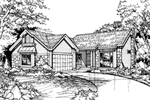 Ranch House Plan Front of Home - 072D-0441 | House Plans and More
