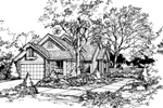 Ranch House Plan Front of Home - 072D-0442 | House Plans and More