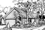 Southern House Plan Front of Home - 072D-0443 | House Plans and More