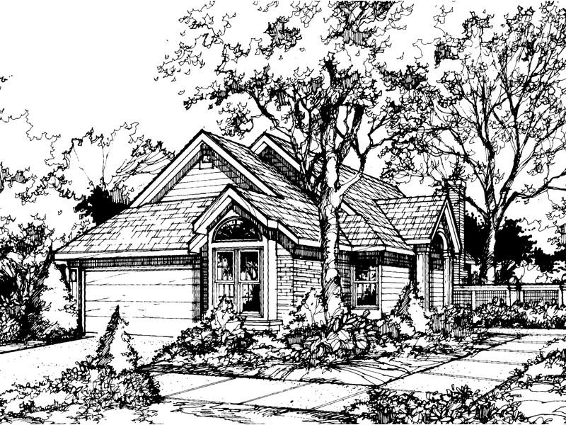 Southern House Plan Front of Home - 072D-0444 | House Plans and More
