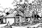 Ranch House Plan Front of Home - 072D-0444 | House Plans and More