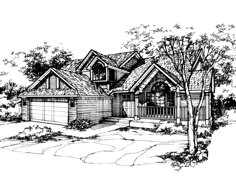 Contemporary House Plan Front of Home - 072D-0445 | House Plans and More