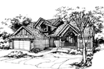 Traditional House Plan Front of Home - 072D-0445 | House Plans and More