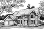 Colonial Floor Plan Front of Home - 072D-0446 | House Plans and More