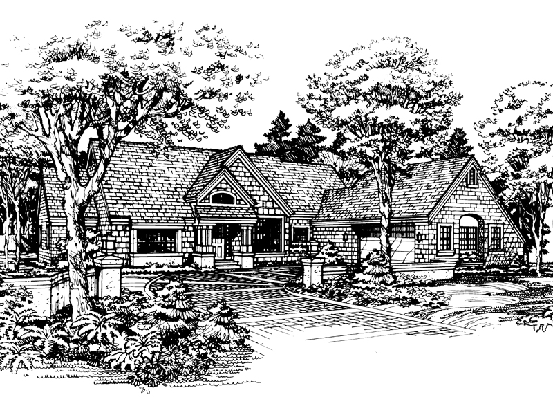 Traditional House Plan Front of Home - 072D-0447 | House Plans and More