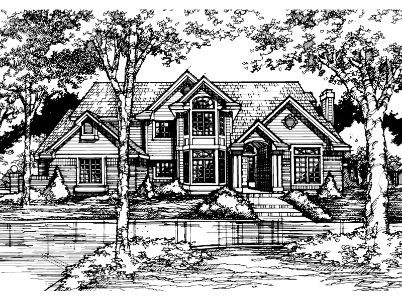 Luxury House Plan Front of Home - 072D-0448 | House Plans and More