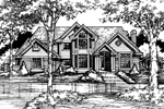 Traditional House Plan Front of Home - 072D-0448 | House Plans and More