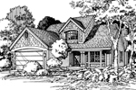 Traditional House Plan Front of Home - 072D-0449 | House Plans and More