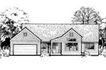 Traditional House Plan Front of Home - 072D-0451 | House Plans and More