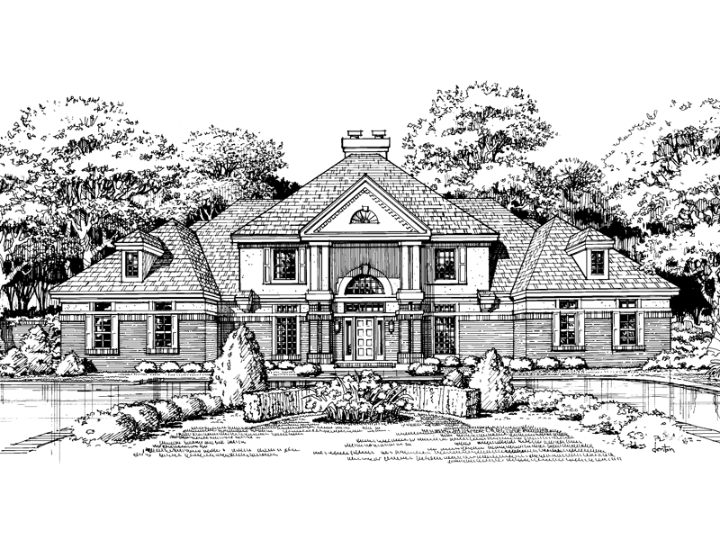 Luxury House Plan Front of Home - 072D-0452 | House Plans and More