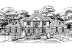 Traditional House Plan Front of Home - 072D-0452 | House Plans and More