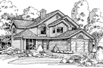 Contemporary House Plan Front of Home - 072D-0453 | House Plans and More