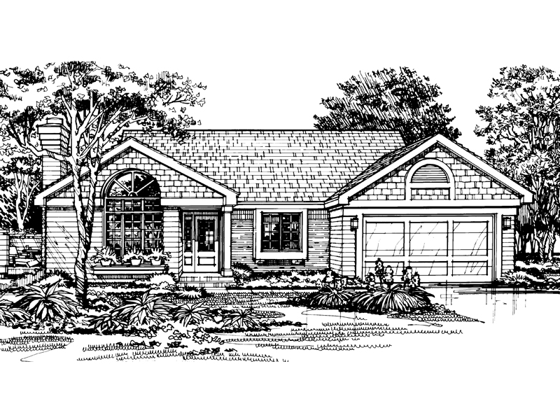 Traditional House Plan Front of Home - 072D-0454 | House Plans and More