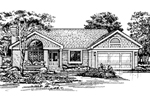 Ranch House Plan Front of Home - 072D-0454 | House Plans and More