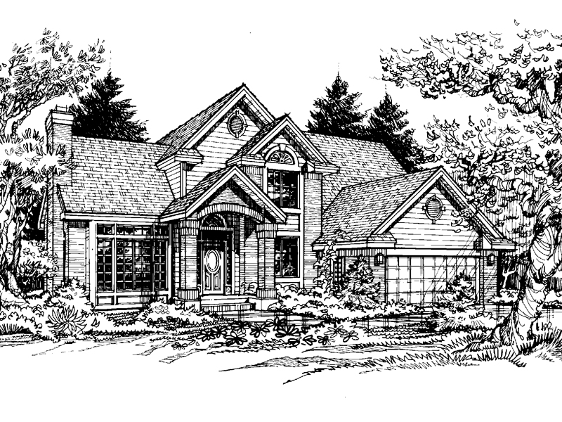 Modern House Plan Front of Home - 072D-0455 | House Plans and More