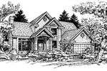 Traditional House Plan Front of Home - 072D-0455 | House Plans and More