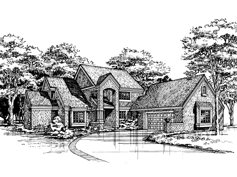 Contemporary House Plan Front of Home - 072D-0457 | House Plans and More