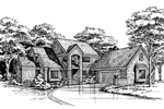 Traditional House Plan Front of Home - 072D-0457 | House Plans and More
