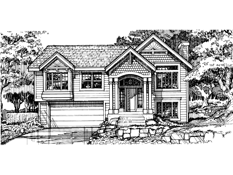 Craftsman House Plan Front of Home - 072D-0458 | House Plans and More