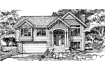 Arts and Crafts House Plan Front of Home - 072D-0458 | House Plans and More