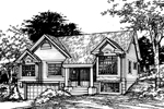 Contemporary House Plan Front of Home - 072D-0459 | House Plans and More