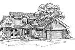 Traditional House Plan Front of Home - 072D-0460 | House Plans and More