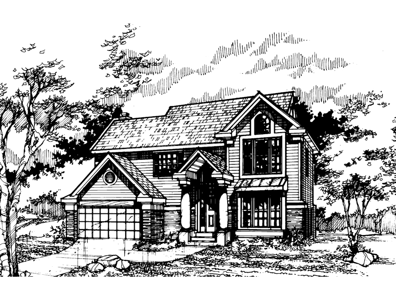 Southern House Plan Front of Home - 072D-0461 | House Plans and More