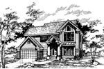 Traditional House Plan Front of Home - 072D-0461 | House Plans and More