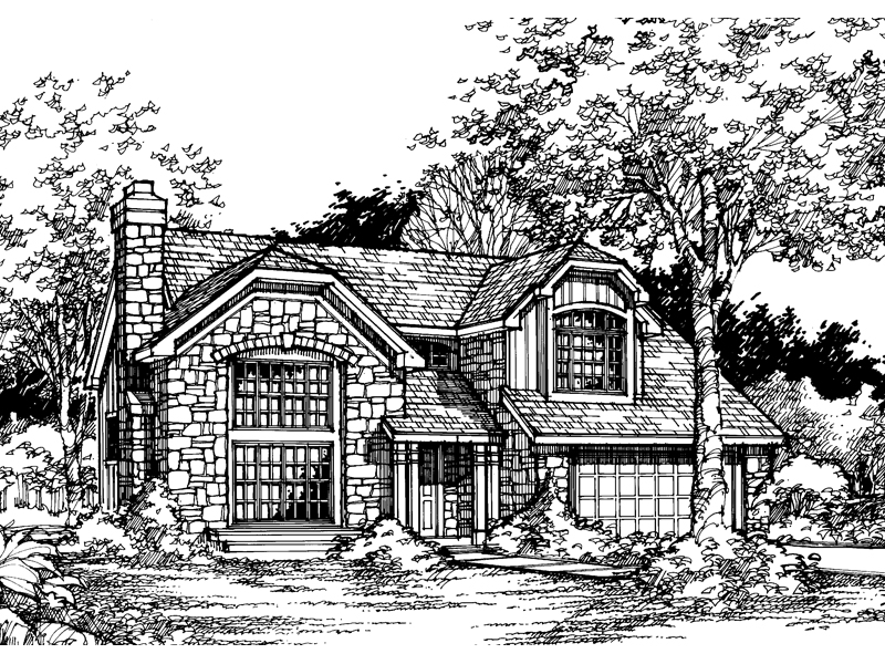 Tudor House Plan Front of Home - 072D-0462 | House Plans and More
