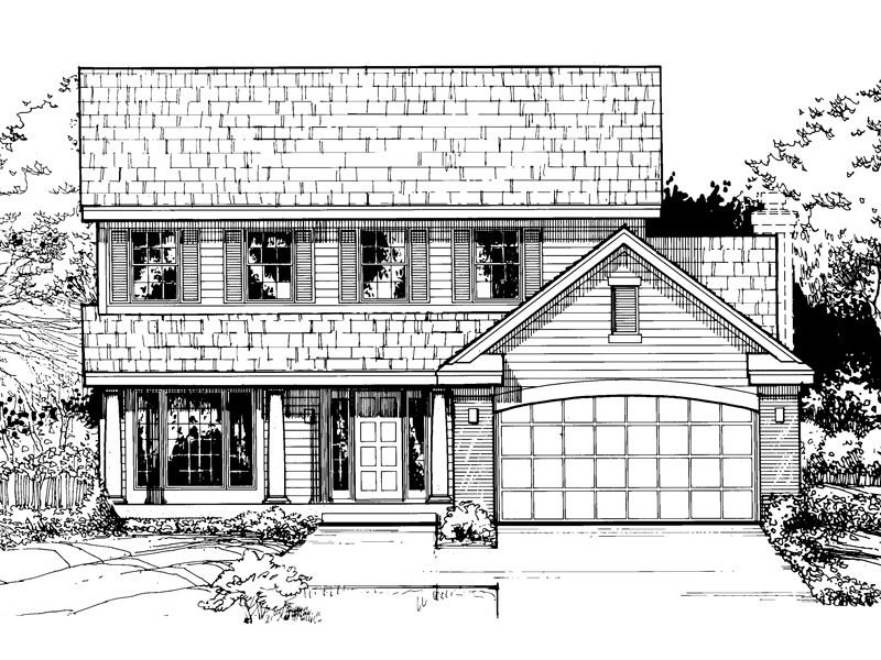 Southern House Plan Front of Home - 072D-0463 | House Plans and More